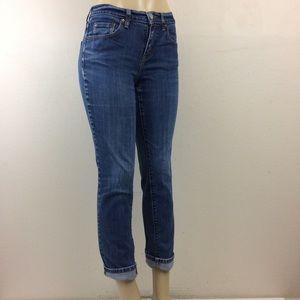 Levis Jeans 505 Sz 4 Short Straight Mid Rise